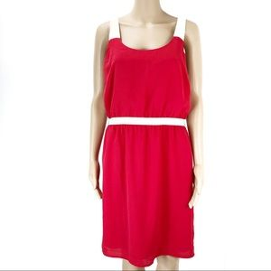 Loft size 6 sleeveless red dress (#27)